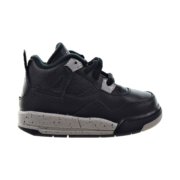 "Air Jordan 4 Retro LS BP ""Oreo"" Toddler Shoes Black-Tech Grey"