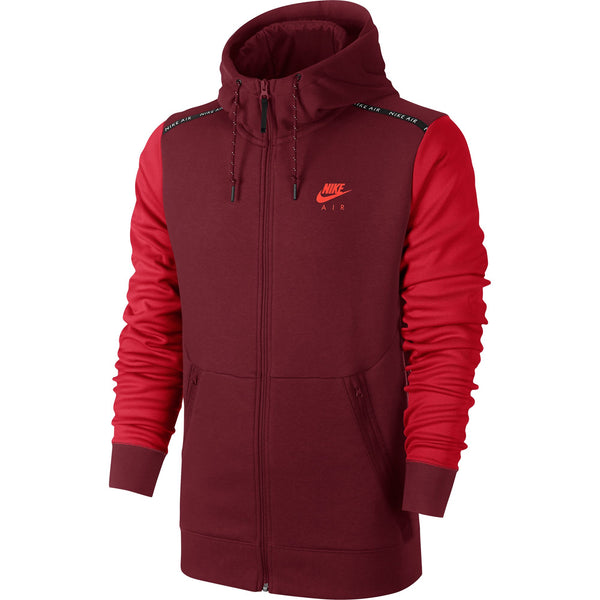 Nike Air Hybrid Zip Up Men's Hoodie Burgundy-Red