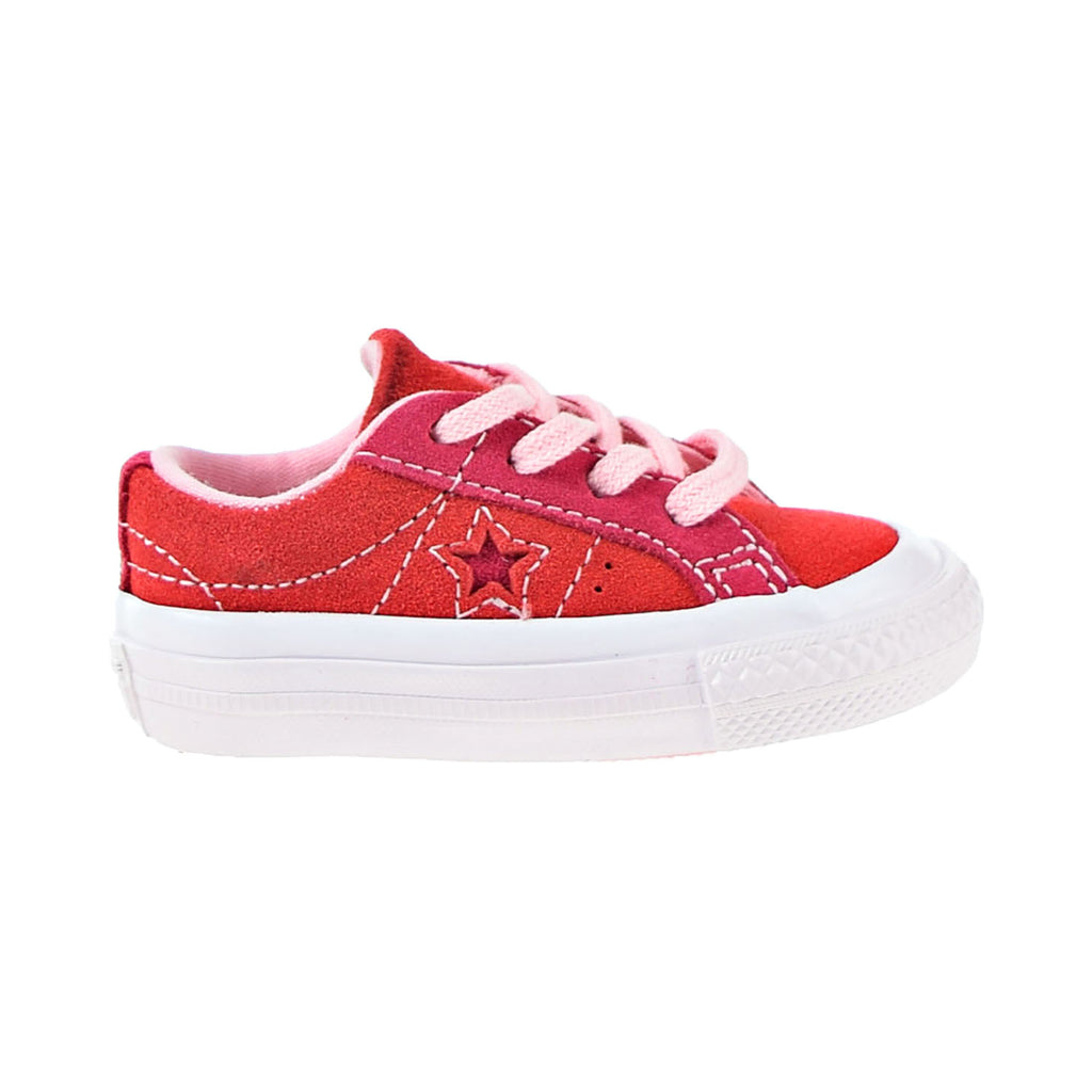 Converse One Star Ox Toddler Shoes Enamel Red-Pink