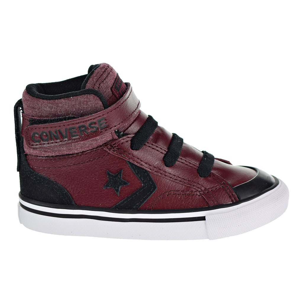 Converse Pro Blaze Strap HI Toddlers Shoes Dark Burgundy/Black/White