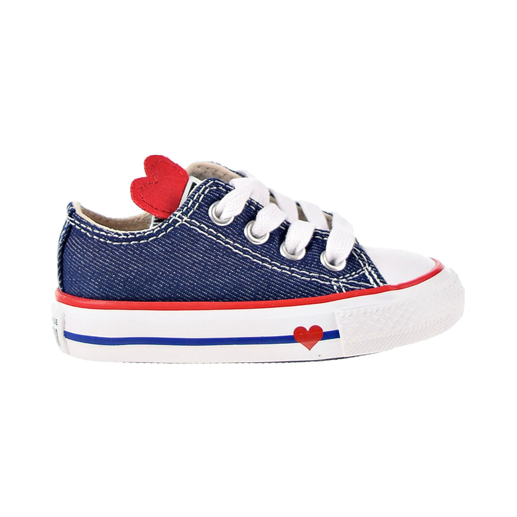 Converse Chuck Taylor All Star Denim Love Ox Toddler Shoes Navy-Enamel Red-Blue