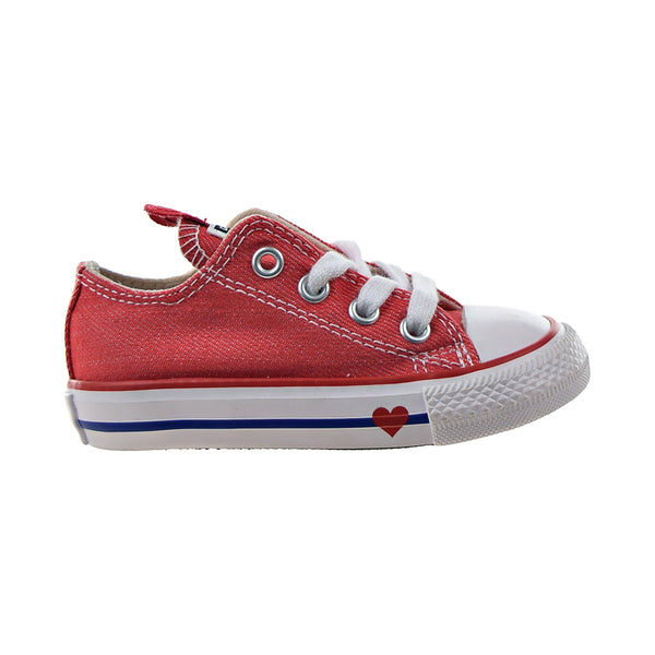 Converse Chuck Taylor All Star Ox Denim Love Toddlers' Shoes Sedona Red-Blue