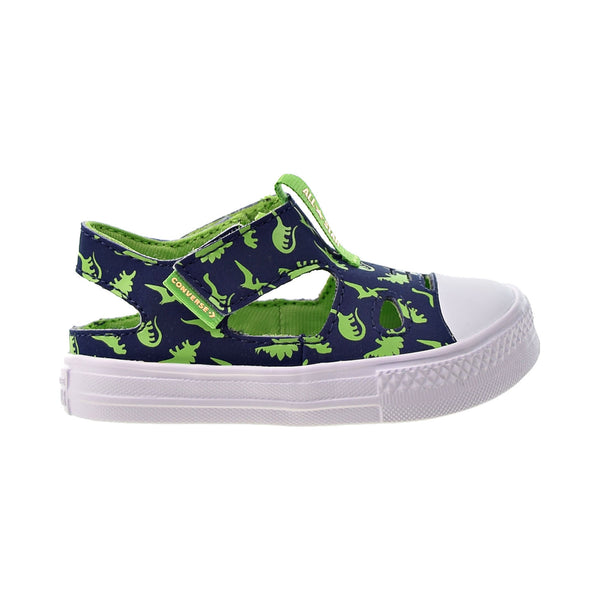 "Converse Chuck Taylor All Star Low Top ""Dinos"" Toddler Sandals Midnight Navy"