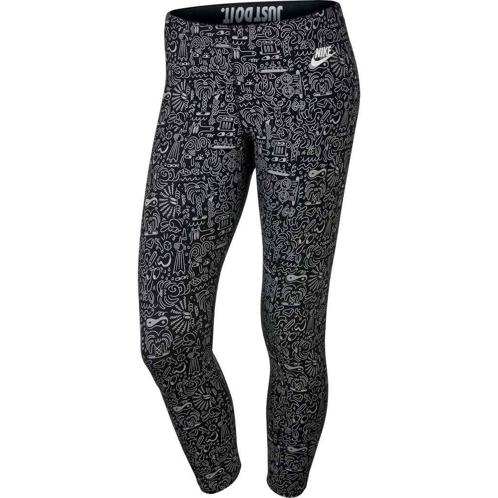 Nike Leg-A-See Cropped Printed Women's Leggings Athletic Black/White