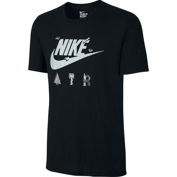 Nike Air Print NRG Men's T-shirt Black-Grey