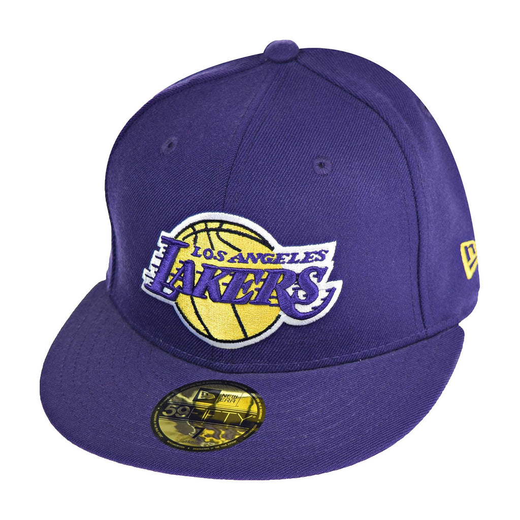 New Era Los Angeles Lakers NBA 59Fifty Men's Fitted Hat Cap Violet/Yellow/White