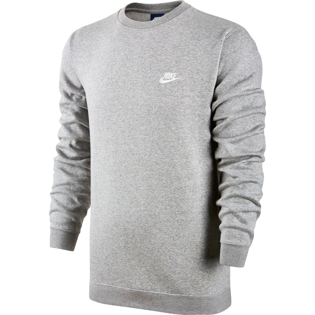 Nike Club Fleece Crew Neck Men's T-Shirt Grey Heather/White