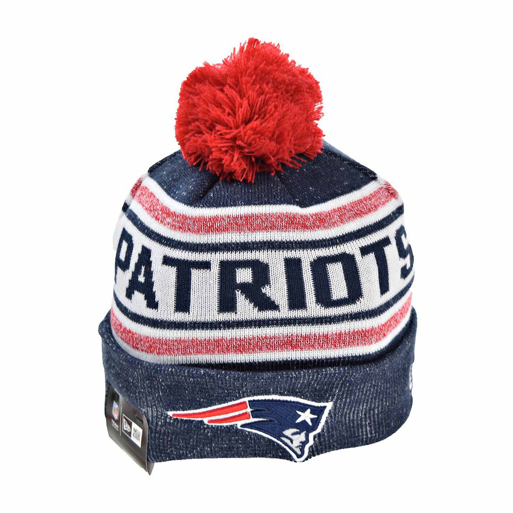 9d418554 New Era New England Patriots Toasty Cover Men's Knit Beanie Hat Navy  Blue/Red