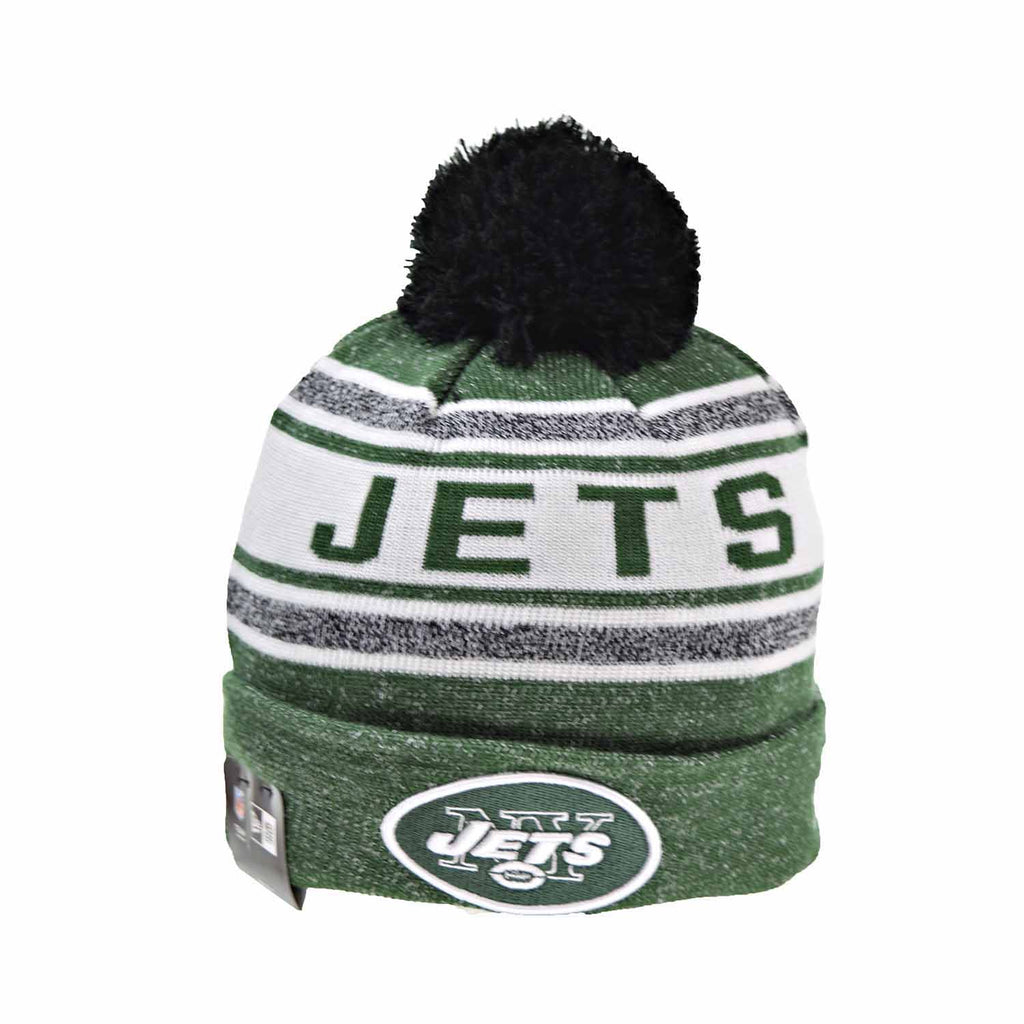 New Era New York Jets Toasty Cover Men's Knit Pom  Beanie Hat Green/White