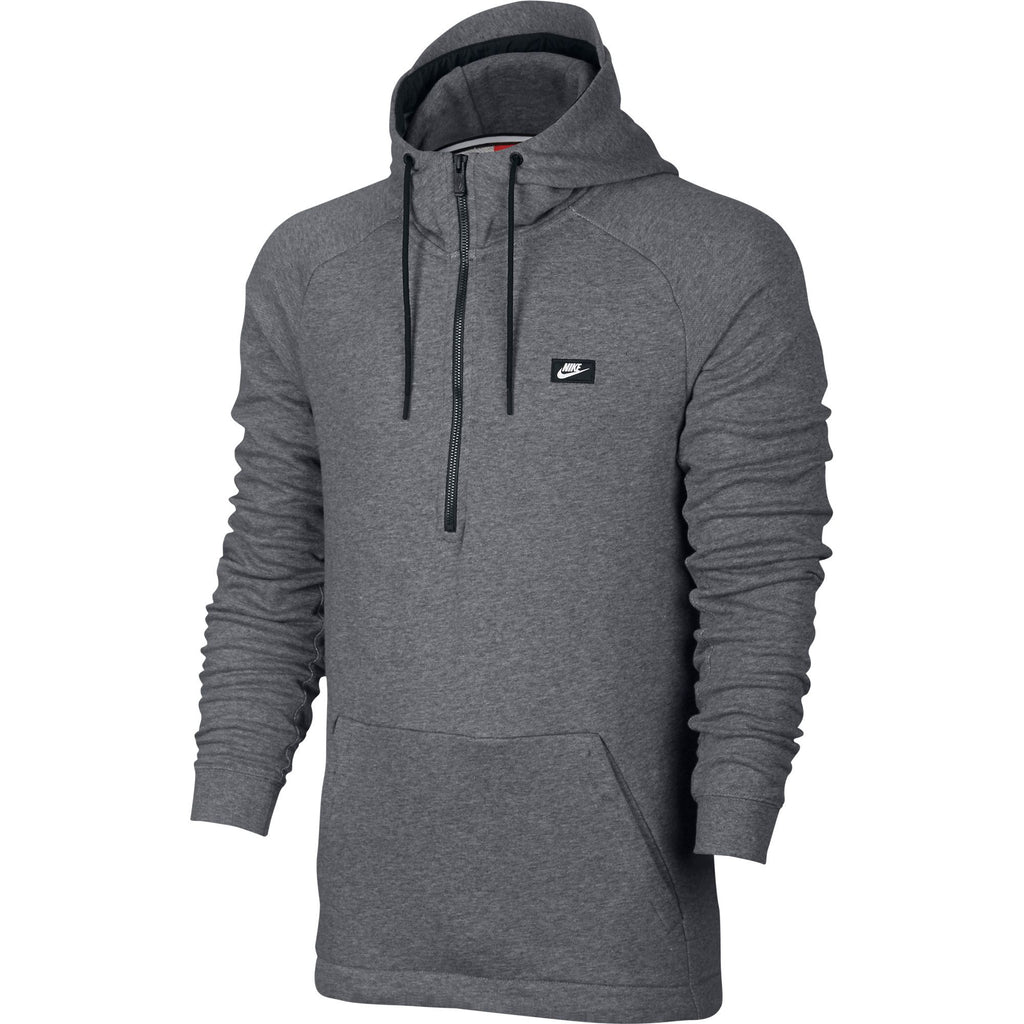 Men's Nike Sportswear Half Zip Modern Hoodie Carbon Heather