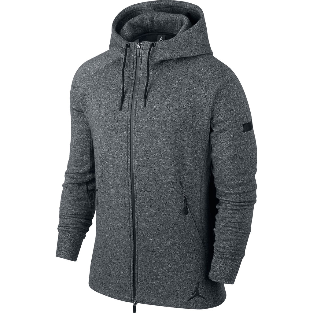 Jordan Jumpman Icon Fleece Men's Full Zip Hoodie Grey/Black
