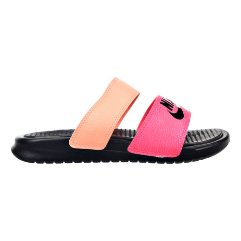 2e9fd49cbeb937 Nike Benassi Duo Ultra Slide Women s Sandals Racer Pink Sunset Glow Black