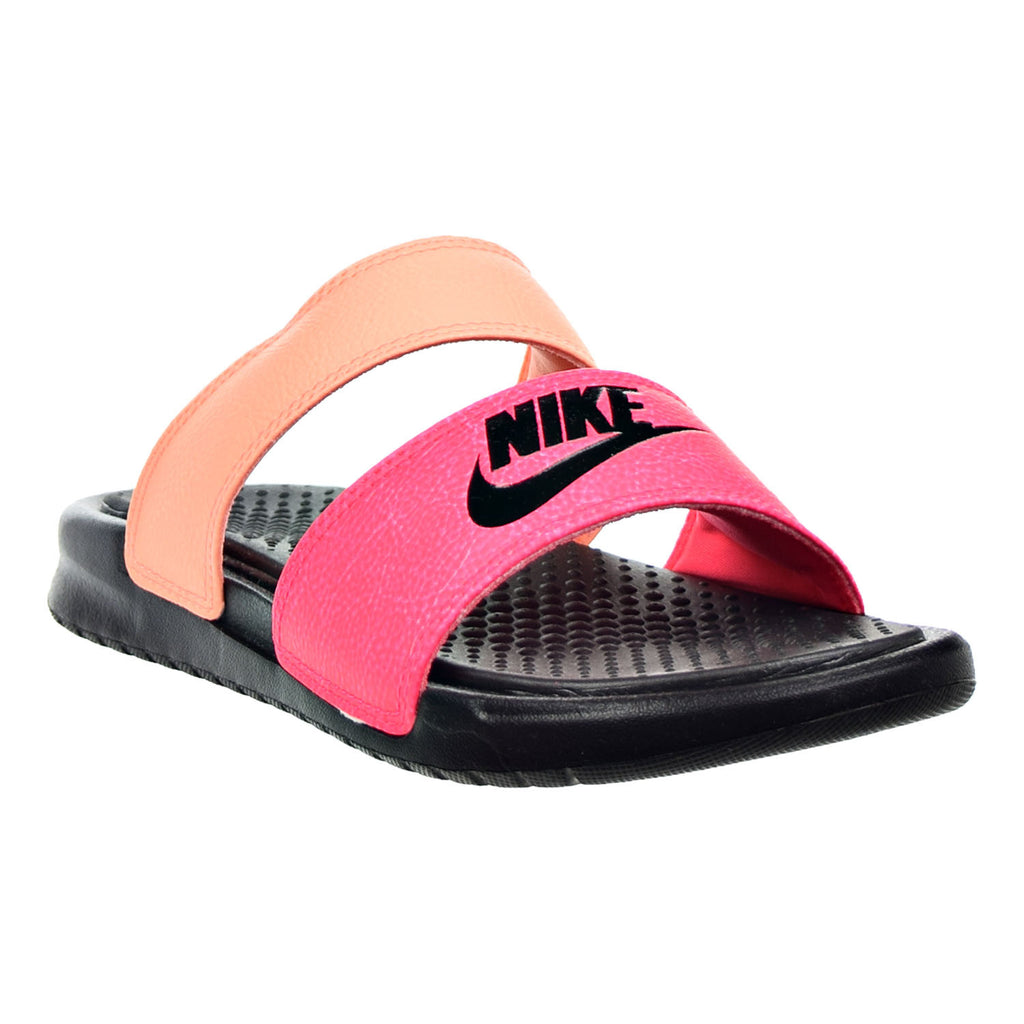 47bc3aa07e3996 Nike Benassi Duo Ultra Slide Women s Sandals Racer Pink Sunset Glow Bl –  rbdoutlet
