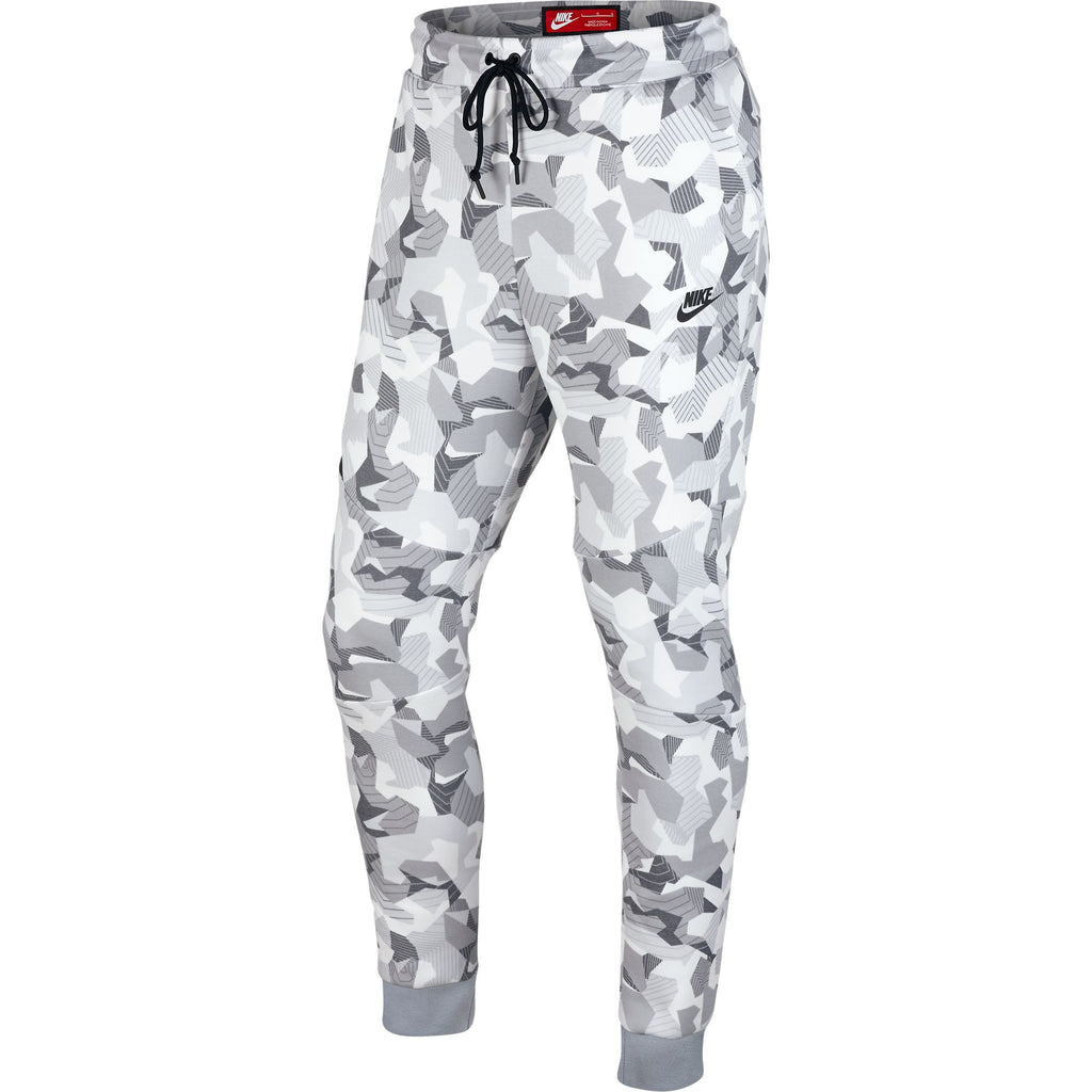 Nike Tech Fleece Camo Joggers In White