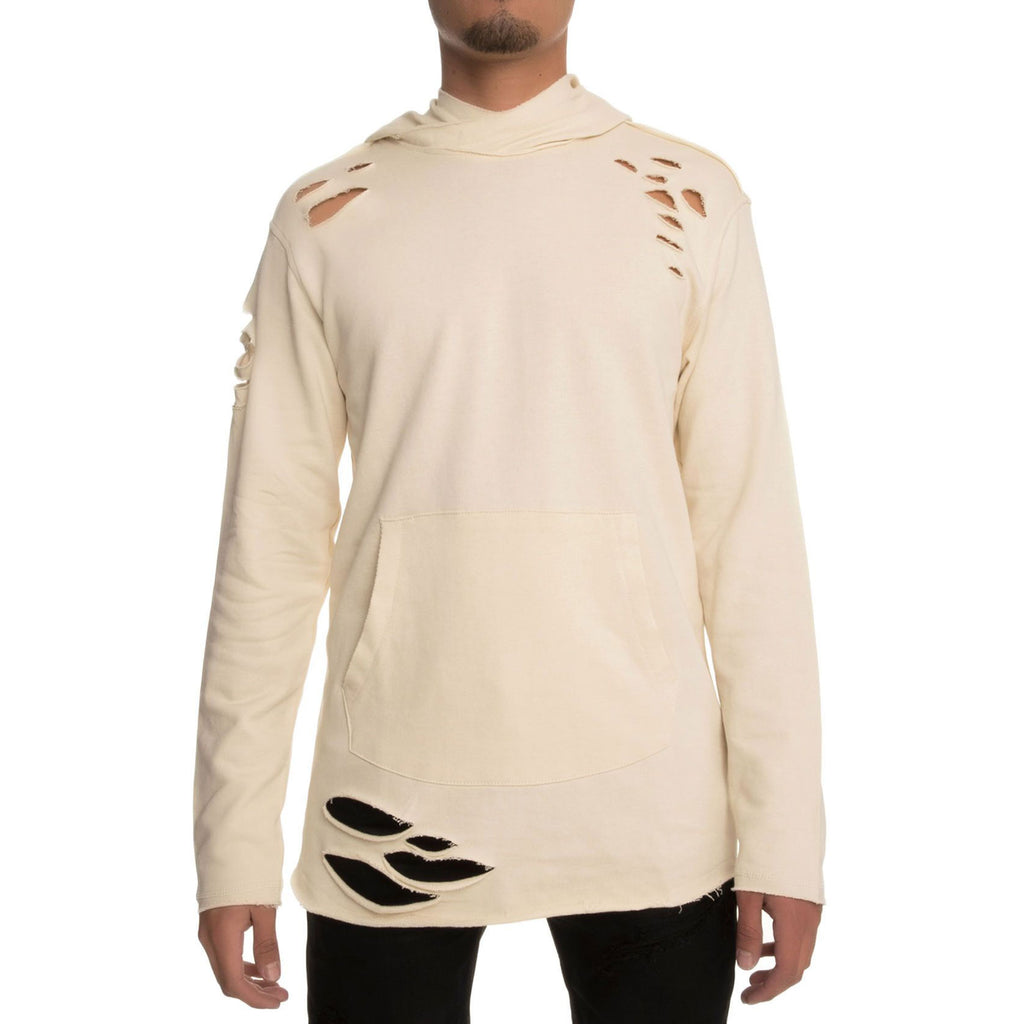 Jordan Craig Ripped Men's Pullover Hoodie Light Bone