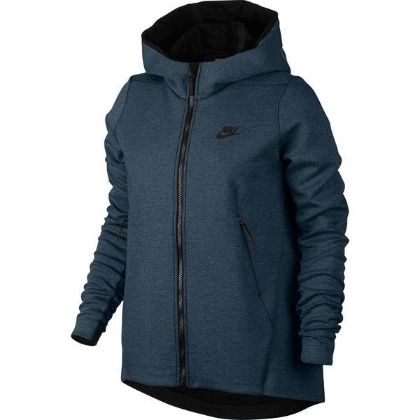 Nike Sportswear Tech Fleece Full Zip Women's Hoodie Squadron Blue Heather