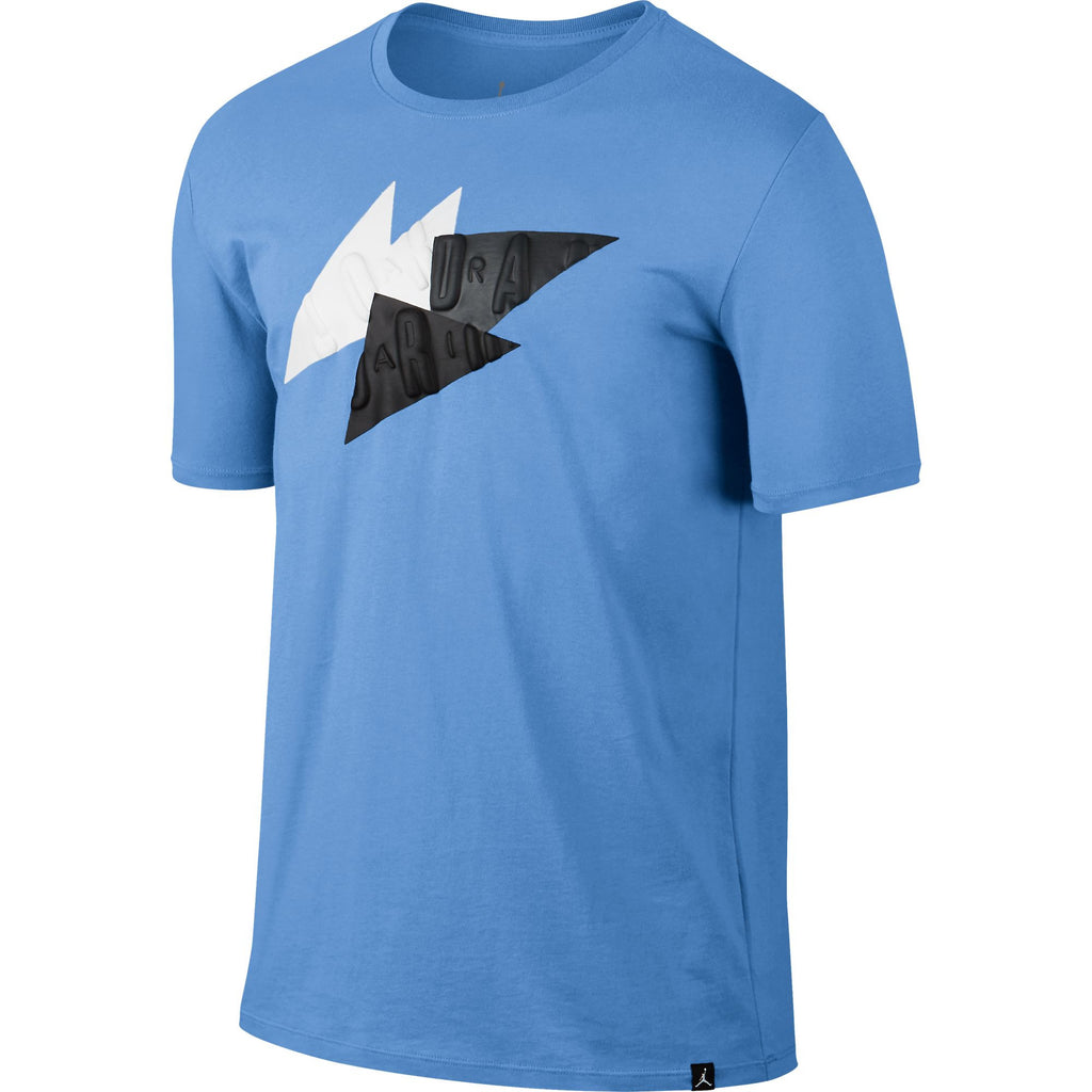 Jordan 7 Abstract Men's Sporstwear Casual T-Shirt Blue/White/Black