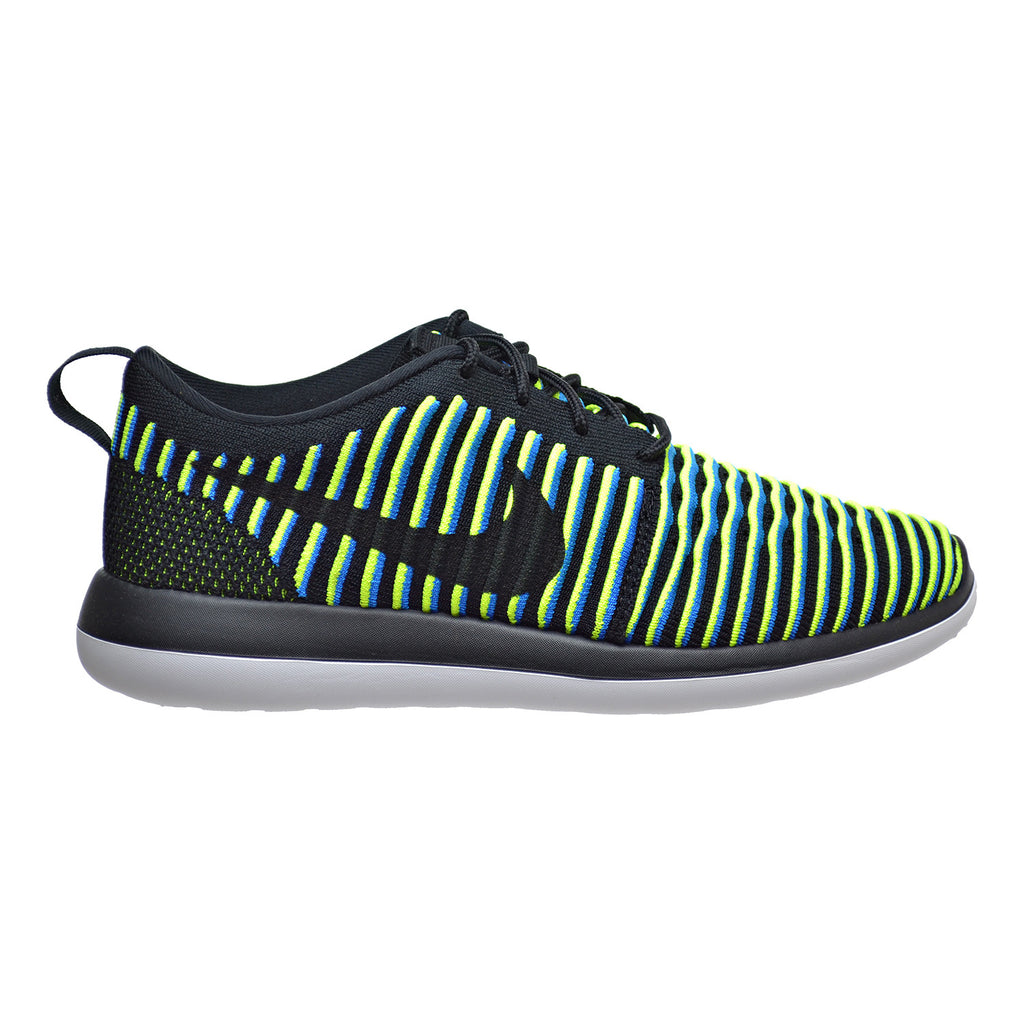 Nike Roshe Two Flyknit Women's Shoes Black/Photo Blue/Volt