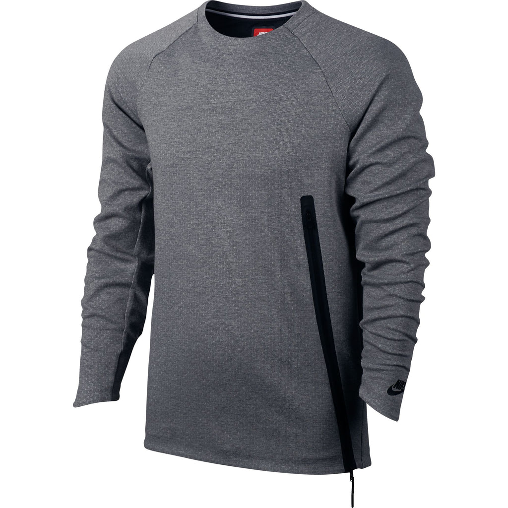 Nike Tech Fleece Crew Neck Men's Casual Fashion Warm Sweatshirt Grey