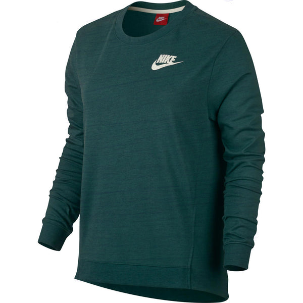 Nike Gym Crew Pull Over Women's T-Shirt Dark Green