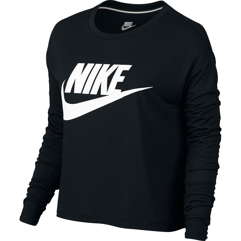 Nike Sportswear Essential Longsleeve Women's Crop Top Black/White