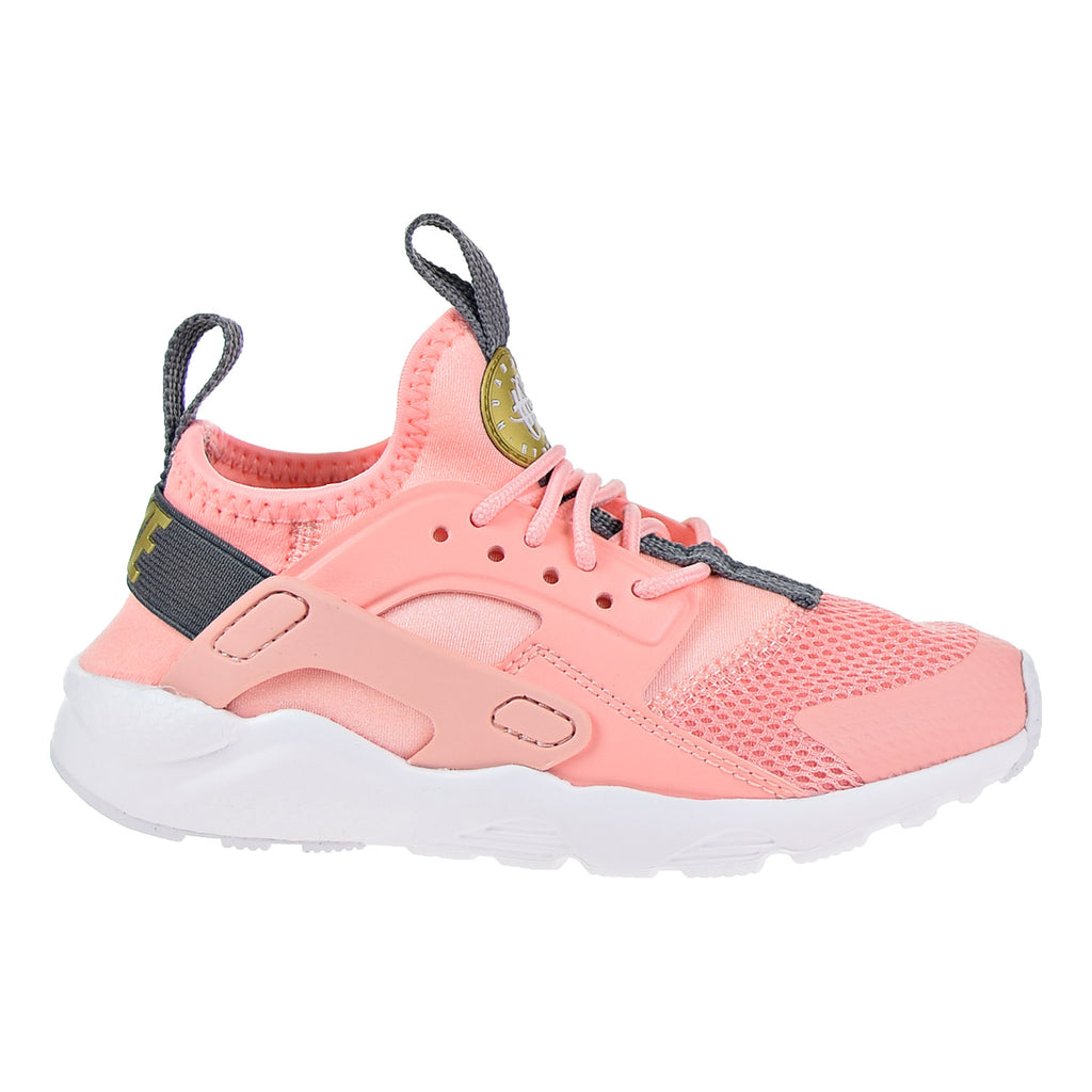 Nike Huarache Ultra Little Kid's Running Shoes Bleached Coral/ Metallic Gold