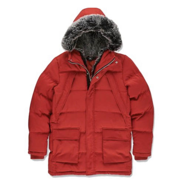 Jordan Craig Fargo Fur Lined Parka Men's Jacket Red