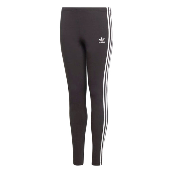 Adidas 3 Stripes Kids'/Girls' Leggings Pants Black-White