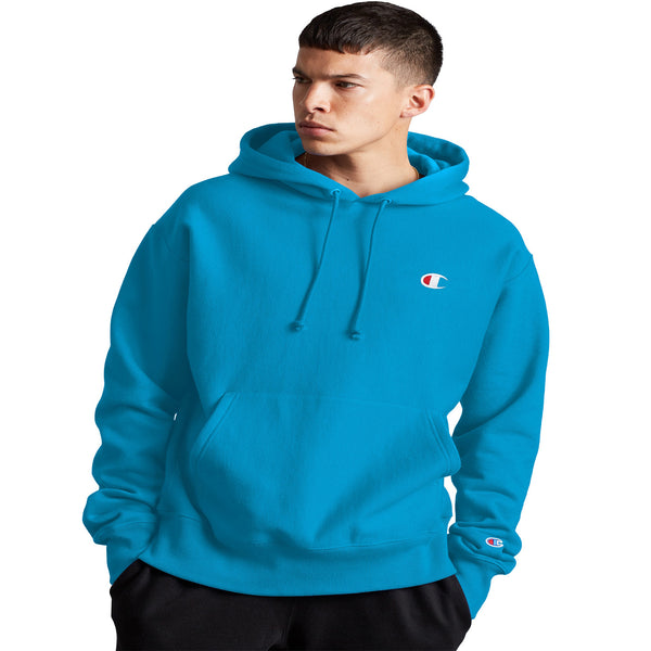 Champion Reverse Weave Fleece Men's Pullover Hoodie Deep Blue