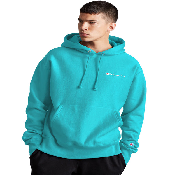 Champion Reverse Weave Fleece Men's Pullover Hoodie Blue Horizon