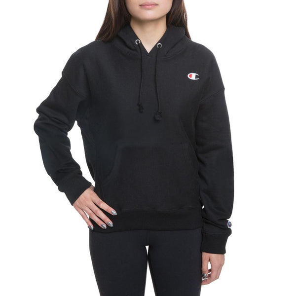 Champion Reverse Weave Fleece Women's Pullover Hoodie Black