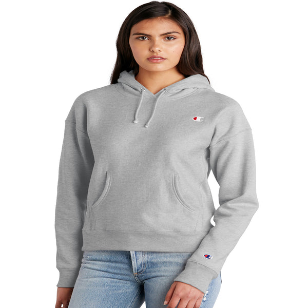 Champion Reverse Weave Fleece Women's Pullover Hoodie Oxford Gray