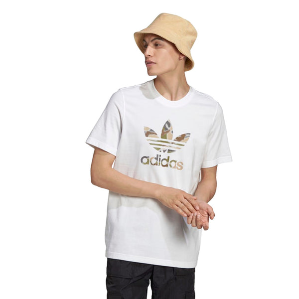 Adidas Originals Camo Trefoil Infil Men's T-Shirt White-Multicolor