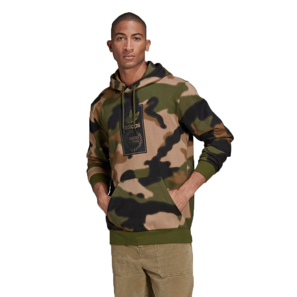 Adidas Camo Allover Print Men's Hoodie Wild Pine-Multicolor-Black