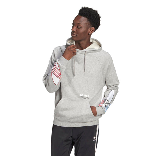 Adidas Adicolor Tricolor Trefoil Men's Hoodie Medium Grey Heather