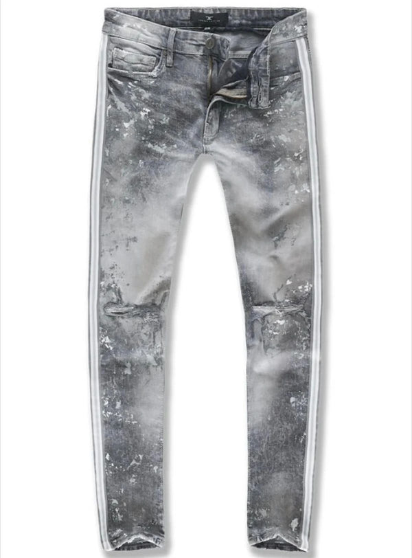 Jordan Craig Sugar Hill Striped Denim Men's Jeans Arctic White