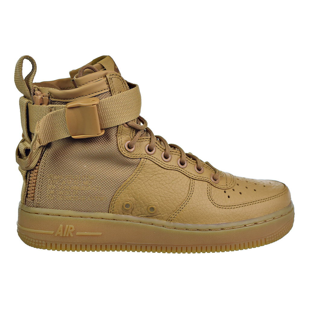 Nike SF Air Force1 Womens Sneakers Elemental Gold/ Elemental Gold or Fondamental