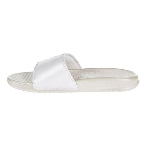 0e1cc67b11b377 Nike Benassi JDI Metallic QS Women s Slides Metallic Summit White Summit  White