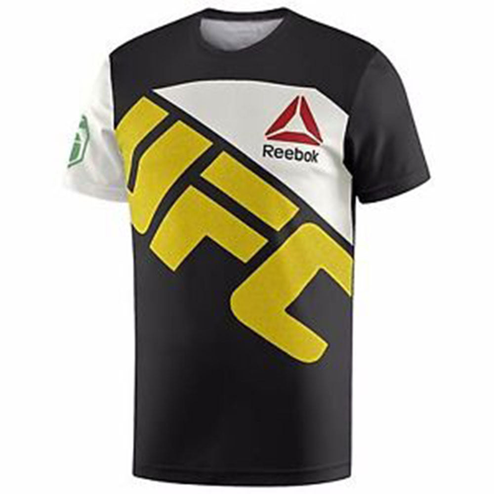 Men's Reebok UFC  Fight Knit Jose Aldo Jersey Black / Chalk