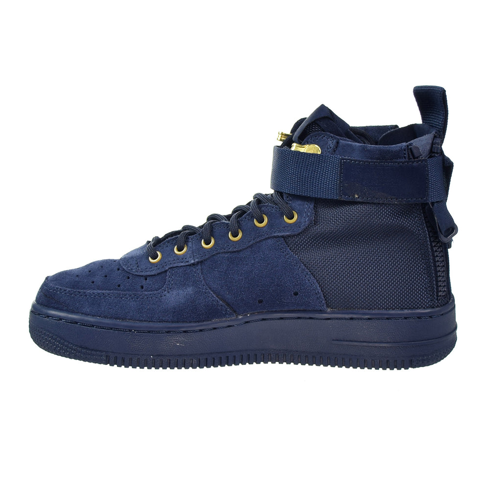 Nike SF AF1 Air Force MID Big Kids Shoes Obsidian Blue/Black