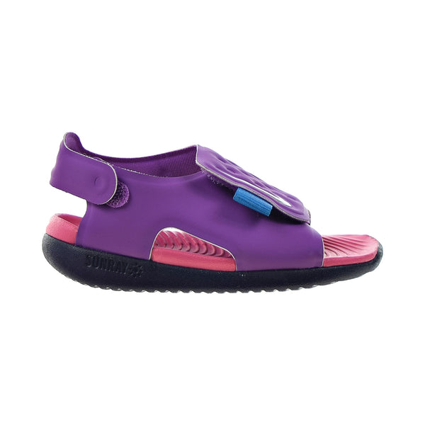 Nike Sunray Adjust 5 (TD) Toddlers' Sandals Purple Nebula-Metallic Silver