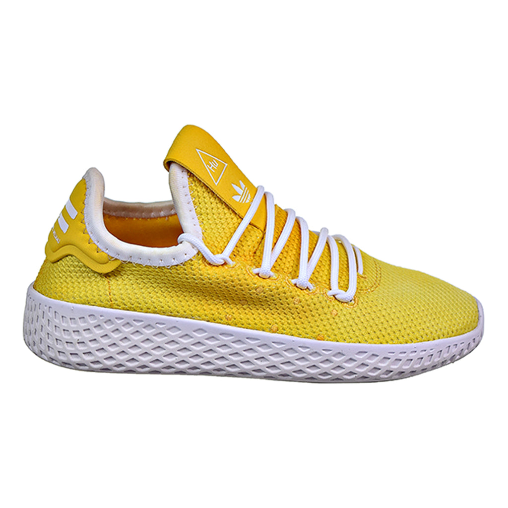Adidas Pharrell Williams Tennis HU C Little Kid's Shoes Yellow/White