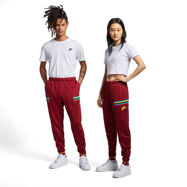Nike Men's Re-Issue Polyknit Jogger Pants Burgundy