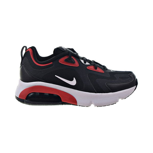 Nike Air Max 200 Big Kids' Shoes Black-White-University Red