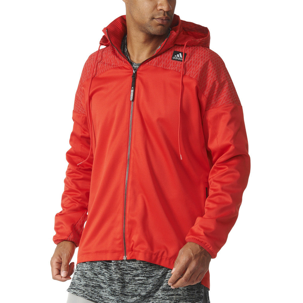 Adidas Originals Basketball League Windmill Men's Jacket Scarlet/Black