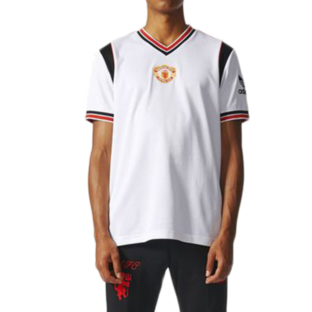 Adidas Manchester United FC Away Jersey Men's T-Shirt White/Black/Red