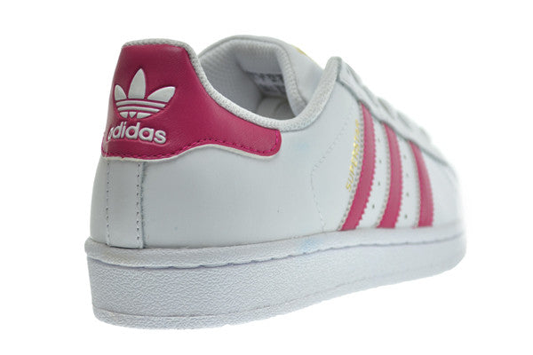 finest selection be385 20081 Adidas Superstar Foundation J Big Kid's Shoes White/Pink/White