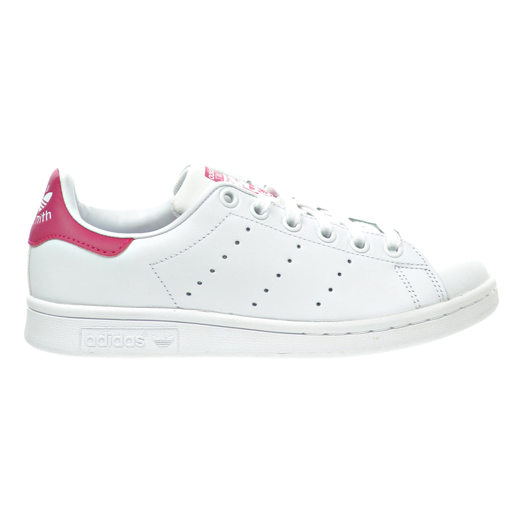 Adidas Stan Smith J Big Kid's Shoes White/Bold Pink