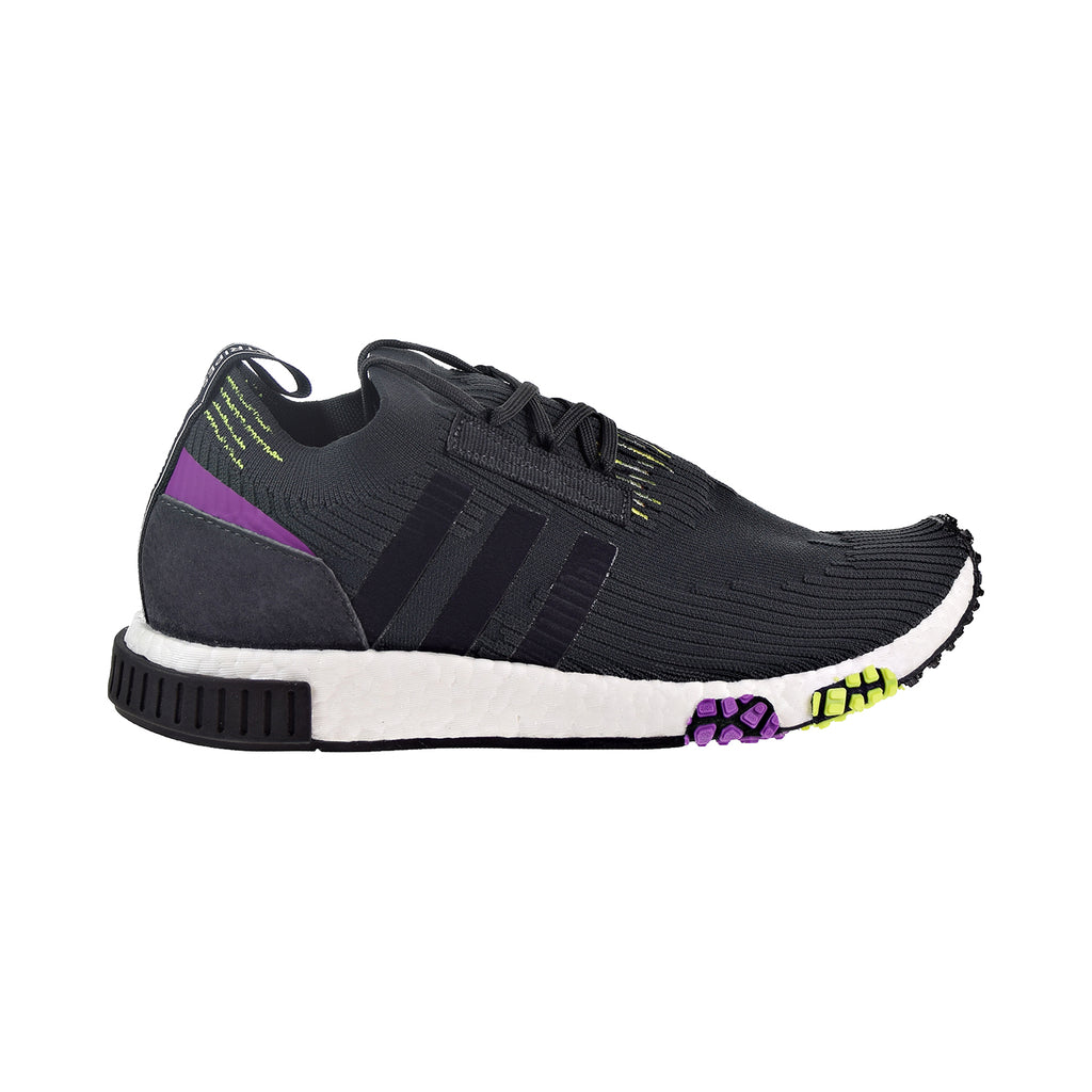 Adidas NMD_RACER PK Men's Shoes Carbon/Core Black/Solar Yellow