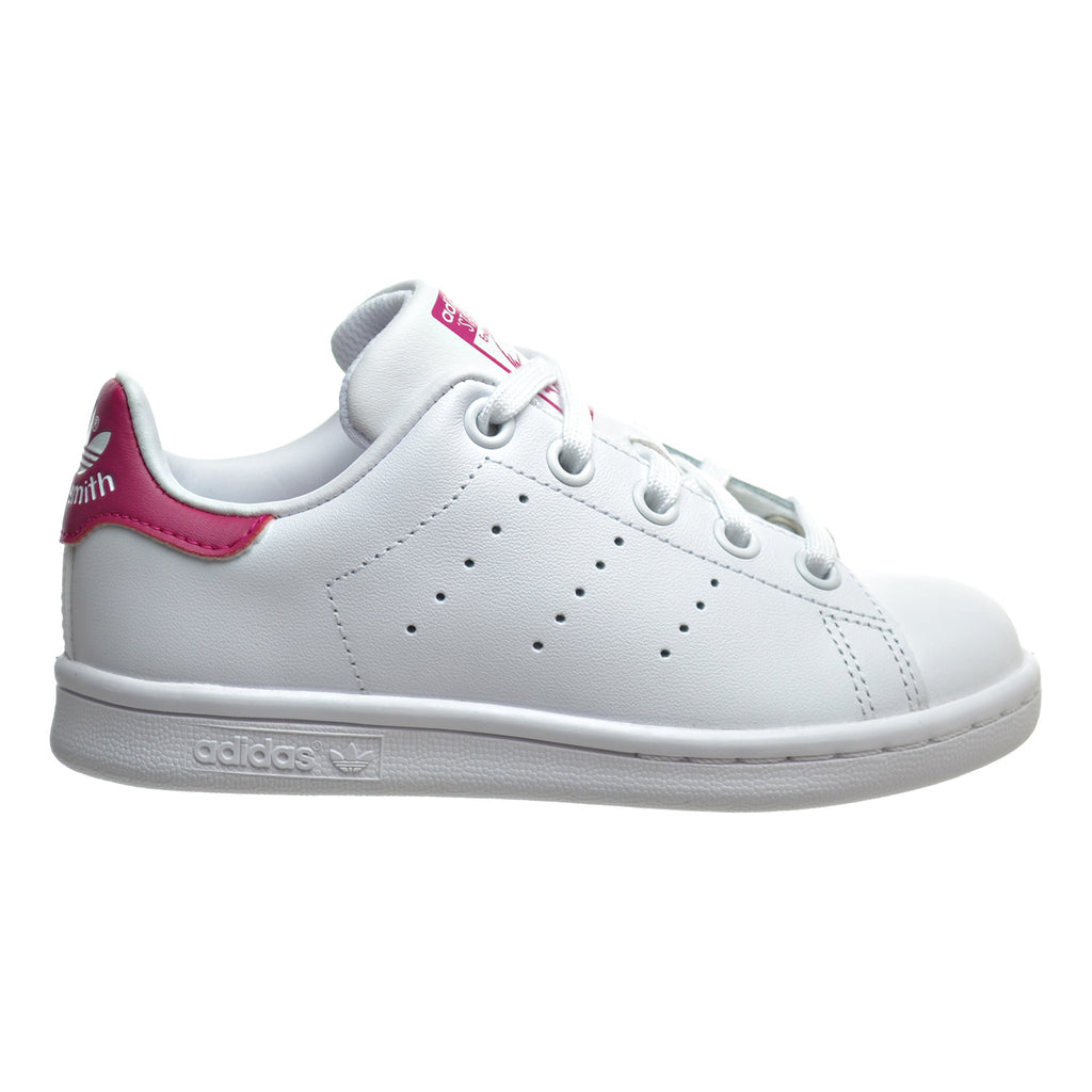 Adidas Stan Smith C Little Kid's Shoes White/White/Bold Pink